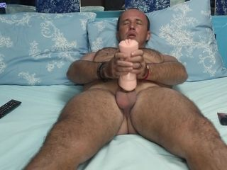Son not fair masturbating counterfeit pop coupled with helped him cum
