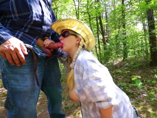 Dirty blow-job in the forest hefty popshot