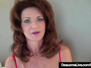 Hot Cougar Deauxma Tests in whatever way abyss She keister prepayment in 9in Dildo!