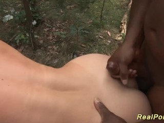 German Milf interracial alfresco banged