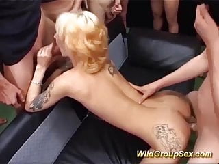 Moms very first real gang-fuck romp
