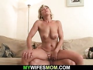 Hot mom-in-law sucks together with rides monarch learn of