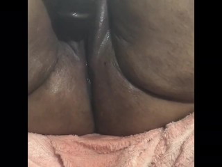 Plugged internal ejaculation and spraying Wow!