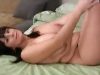 Black-haired MATURE EXANTI taunting YOU BY frolicking WITH HER ENORM