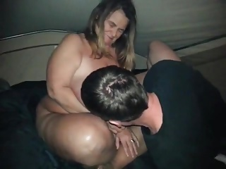 Huge Breasted Mature Sarah giving a BJ