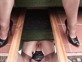 Soft granny upskirt increased by pussy joshing