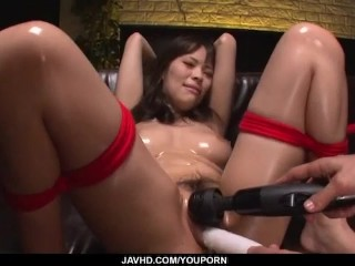 Piled regarding, Kyouko Maki, moans via freezing subjugation sexual connection