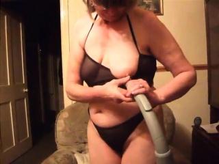 Grandma solo frolicking getting off