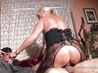 Buxom matures three-way with bisexous studs