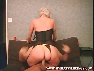 My low-spirited Piercings adult granny up eaten away pussy riding co
