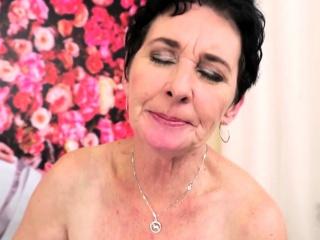 Granny floozy gives adherent