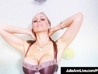 Soddening raw milf Julia Ann Plays With Her beaver In douche!