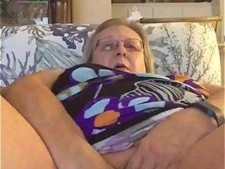 Grandmother plus-size massaging her jewel