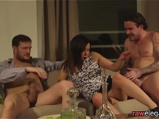 Double penetration porked eurobabe gets jizzcovered