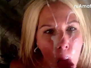 Bitch wifey facial cumshot