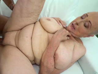 Obese grandmother fucked