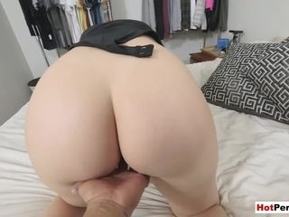 Humping my gorgeous round cougar stepmoms pierced cunny