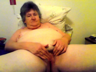 Horrific by oneself less oversexed granny toying pussy