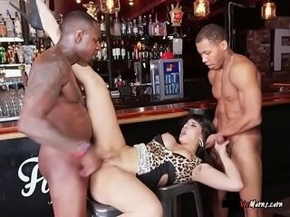 Bodacious Waitress Mercedes Carrera Gets Dicked Down